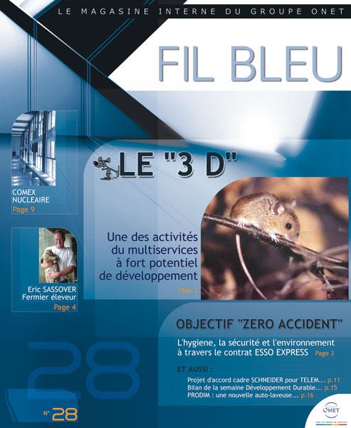 Groupe ONET : <br>Mensuel &laquo;&nbsp;Fil Bleu&nbsp;&raquo;